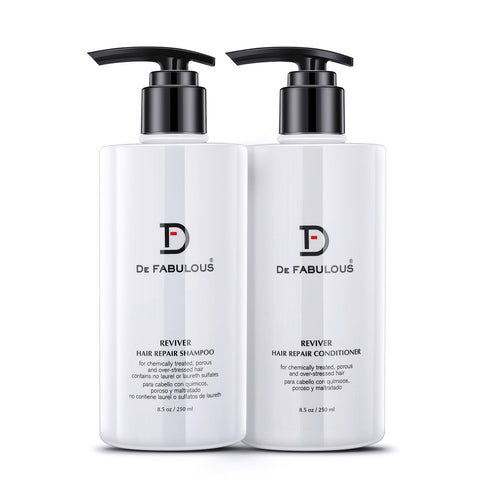 De Fabulous Reviver Hair Repair Shampoo & Conditioner 250ml Each (Pack of 2)