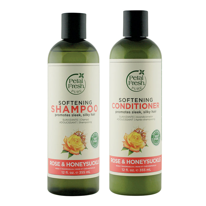 Petal Fresh Softening Rose & Honeysuckle Shampoo + Conditioner 355 ML Each