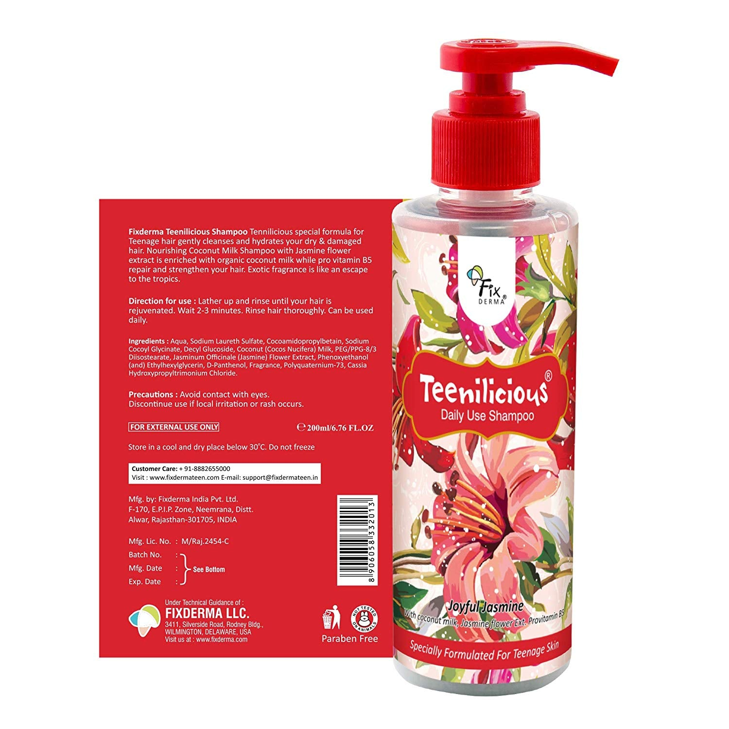 Teenilicious Hair Shampoo for Girls 200ml