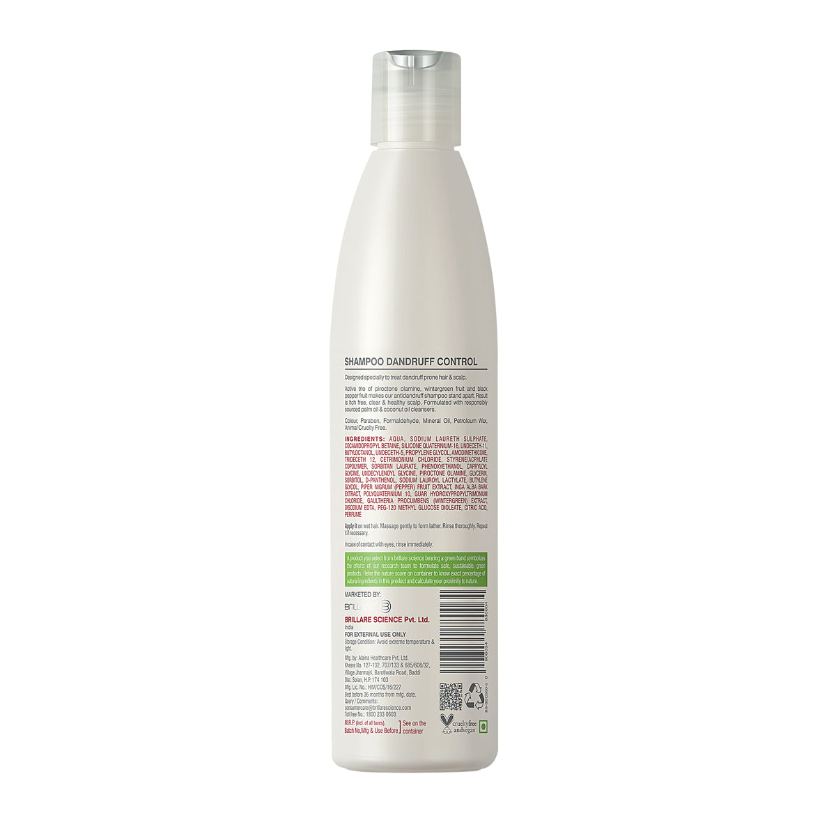 Brillare Shampoo For Itchy, Flaky Scalp 300 ML