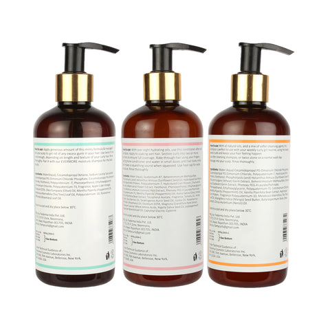 Fix My Curls Evermore and Squeaky Cleansing Shampoo With Mellow Deep Conditioner For Wash Day Pack 250g each