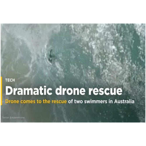Drone comes to the rescue of two swimmers in Australia