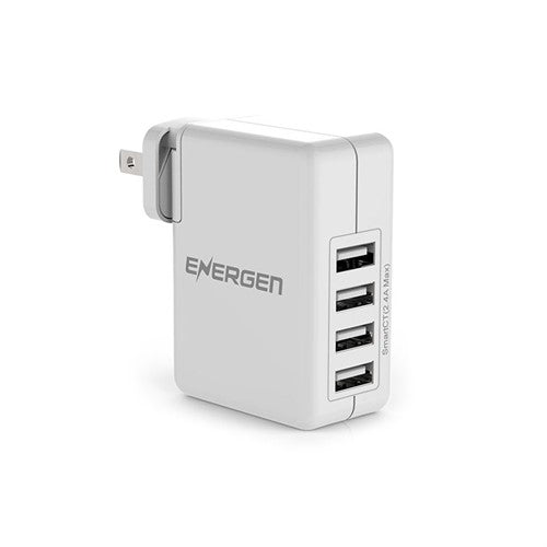 Energen 4 Port Interchangeable Prongs USB Wall Charger - 30W