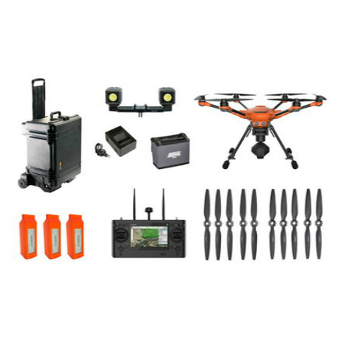 Yuneec H520 Airframe, ST16S, (3) Batteries And Charger, E50 3-Axis Gimbal Camera, Pelican 1620 Case, Lume Cube Dual Pack Mount Kit, And ST16 Hoodman Sun Shade