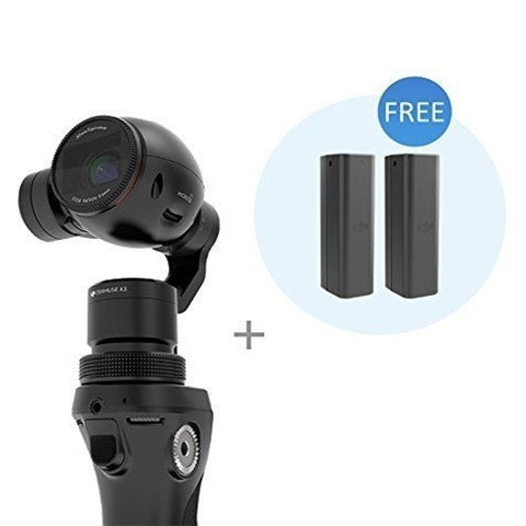 DJI Osmo Handheld Gimbal System with X3 Camera + 2 Free Batteries