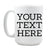Personalized Coffee Mug with Custom Text | 15 oz, White, Ceramic