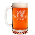 Coolest Dad by Par Etched Glass Beer Mug 16oz