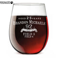 Brandon Personalized Etched Stemless Wine Glass 17oz