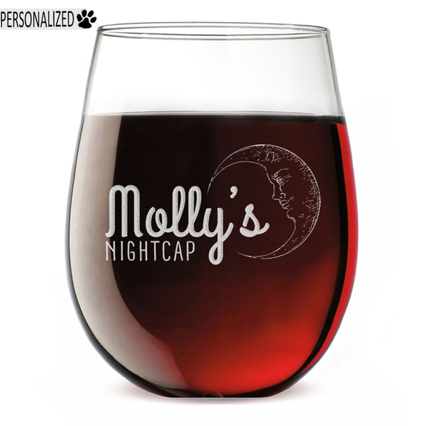 Molly Personalized Etched Stemless Wine Glass 17oz