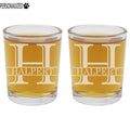 Halpert 2pk Personalized Etched Monogram Shot Glasses 2.5oz ea
