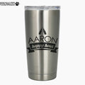 Aaron Personalized Etched Stainless Steel Insulated Tumbler 20oz