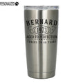 Bernard Personalized Etched Stainless Steel Tumbler 20oz