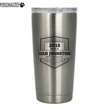Davis Personalized Etched Stainless Steel Insulated Tumbler 20oz