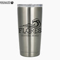Flores Personalized Etched Stainless Steel Insulated Tumbler 20oz