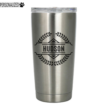 Hudson Personalized Etched Stainless Steel Insulated Tumbler 20oz