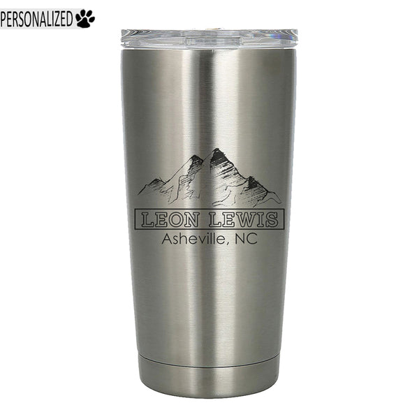 Lewis Personalized Etched Stainless Steel Insulated Tumbler 20oz