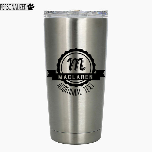 Maclaren Personalized Etched Stainless Steel Insulated Tumbler 20oz