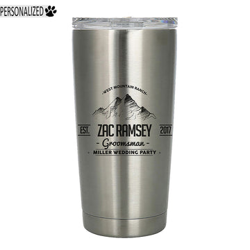Ramsey Personalized Etched Stainless Steel Insulated Tumbler 20oz