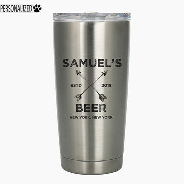 Samuel Personalized Etched Stainless Steel Insulated Tumbler 20oz
