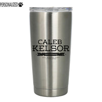 Kelsor Personalized Etched Stainless Steel Insulated Tumbler 20oz