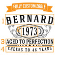 Bernard Personalized Etched Pint Glass 16oz