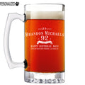 Brandon Personalized Etched Glass Beer Mug 25oz