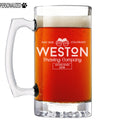 Weston Personalized Etched Glass Beer Mug 25oz