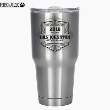 Davis Personalized Etched Stainless Steel Insulated Tumbler 30oz