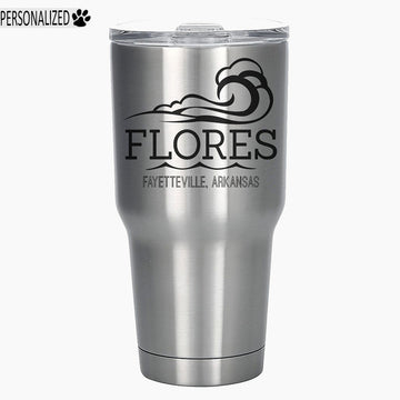 Flores Personalized Etched Stainless Steel Insulated Tumbler 30oz