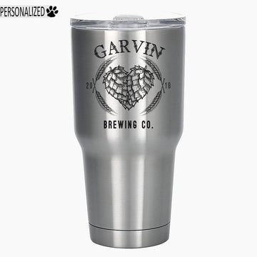 Garvin Personalized Etched Stainless Steel Insulated Tumbler 30oz