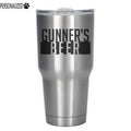 Gunner Personalized Etched Stainless Steel Insulated Tumbler 30oz