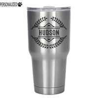 Hudson Personalized Etched Tumbler Insulated Stainless Steel 30oz
