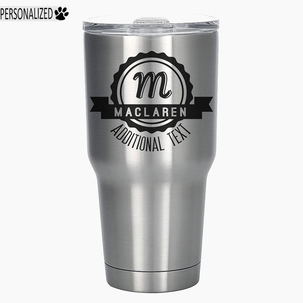 Maclaren Personalized Etched Monogram Tumbler Insulated Stainless Steel 30oz