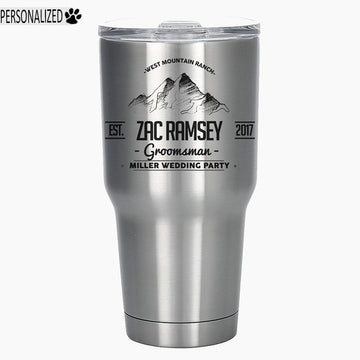 Ramsey Personalized Etched Stainless Steel Insulated Tumbler 30oz