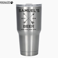 Samuel Personalized Etched Tumbler Insulated Stainless Steel 30oz