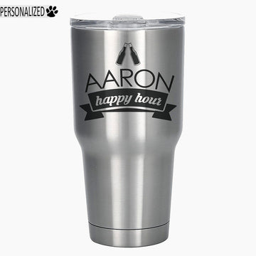 Aaron Personalized Etched Stainless Steel Insulated Tumbler 30oz