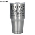 Bernard Personalized Etched Stainless Steel Tumbler 30oz