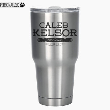 Kelsor Personalized Etched Stainless Steel Insulated Tumbler 30oz