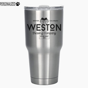 Weston Personalized Etched Stainless Steel Insulated Tumbler 30oz