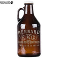 Bernard Personalized Etched Amber Glass Beer Growler 32oz