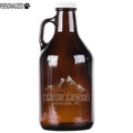 Lewis Personalized Etched Amber Glass Growler 32oz