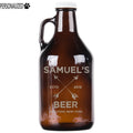 Samuel Personalized Etched Amber Glass Growler 32oz