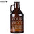 Your Custom Text Personalized Etched Amber Growler 32oz