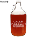 Kelsor Personalized Etched Clear Glass Growler 64oz