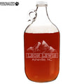 Lewis Personalized Etched Clear Glass Growler 64oz