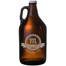 Load image into Gallery viewer, Monogram 64oz Amber Beer Growler