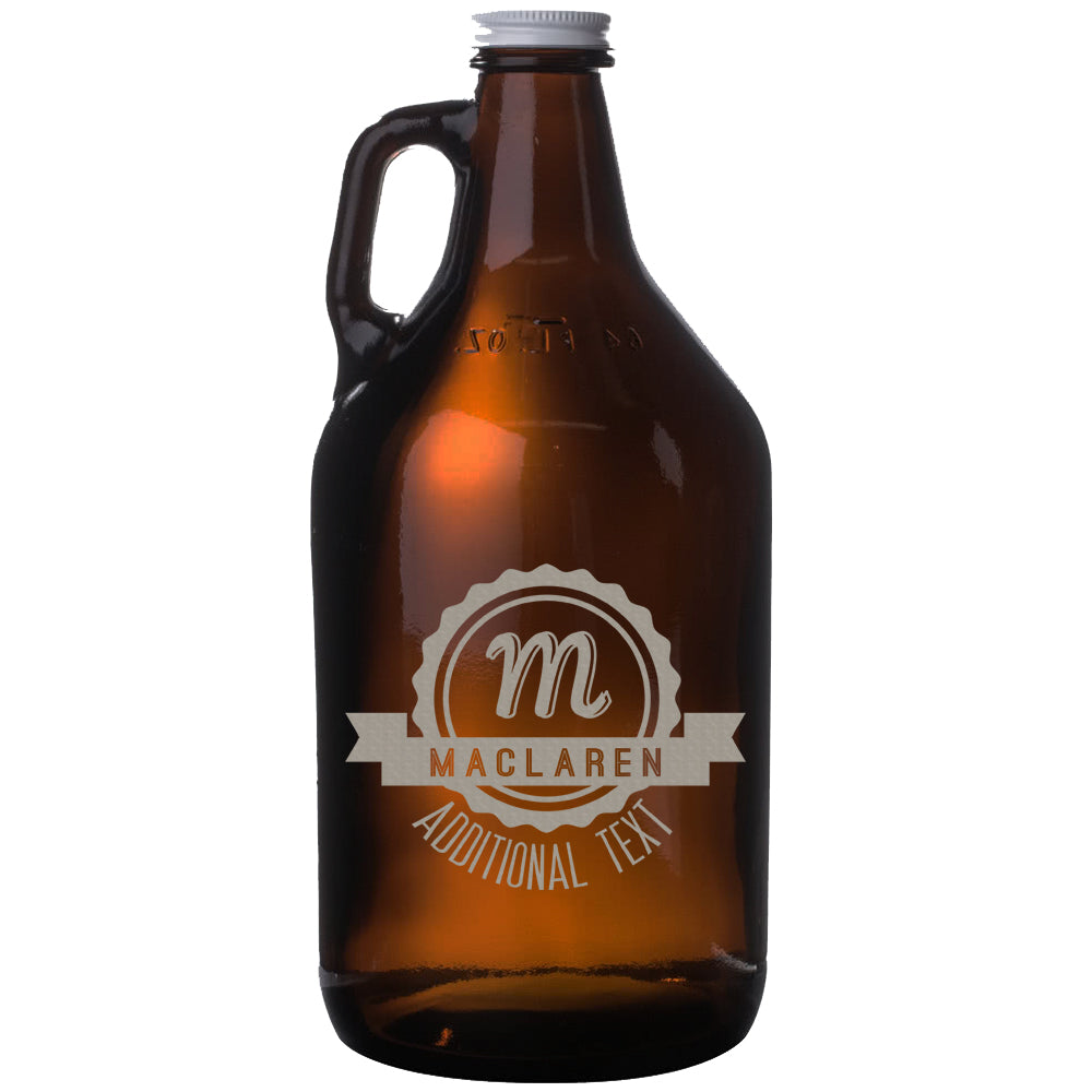 Monogram 64oz Amber Beer Growler