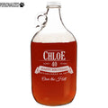 Chloe Personalized Etched Clear Growler 64oz