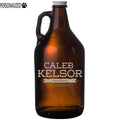 Kelsor Personalized Etched Amber Glass Beer Growler 64oz