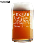 Bernard Personalized Etched Beer Soda Can Glass 16oz